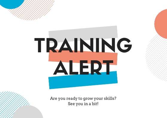 training popup