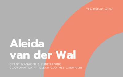 Tea break with Aleida van der Wal