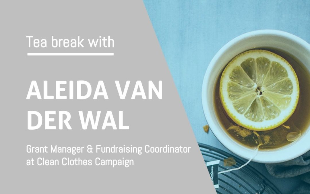 Tea break with Aleida van der Wal