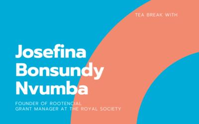 Tea break with Josefina Bonsundy Nvumba